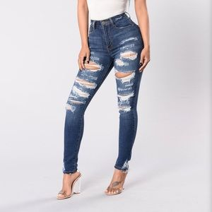 Fashion Nova Don't walk away jeans